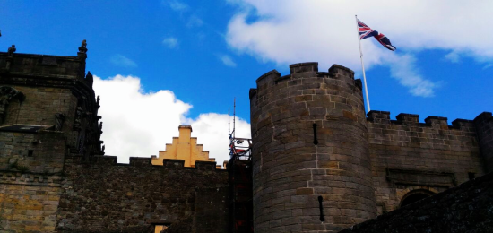 Th glorious blue sky over Stirling Castle in Scotland