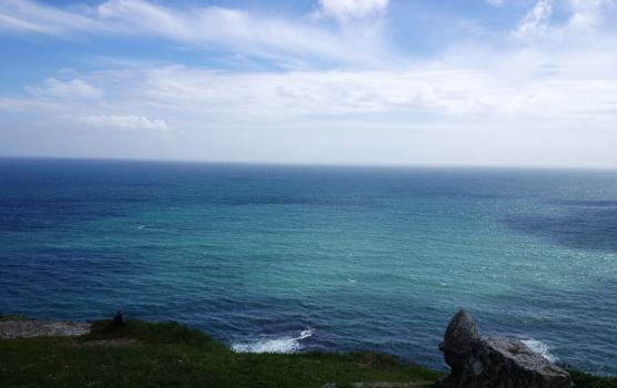 The Atlantic ocean on the Cornwall coast.