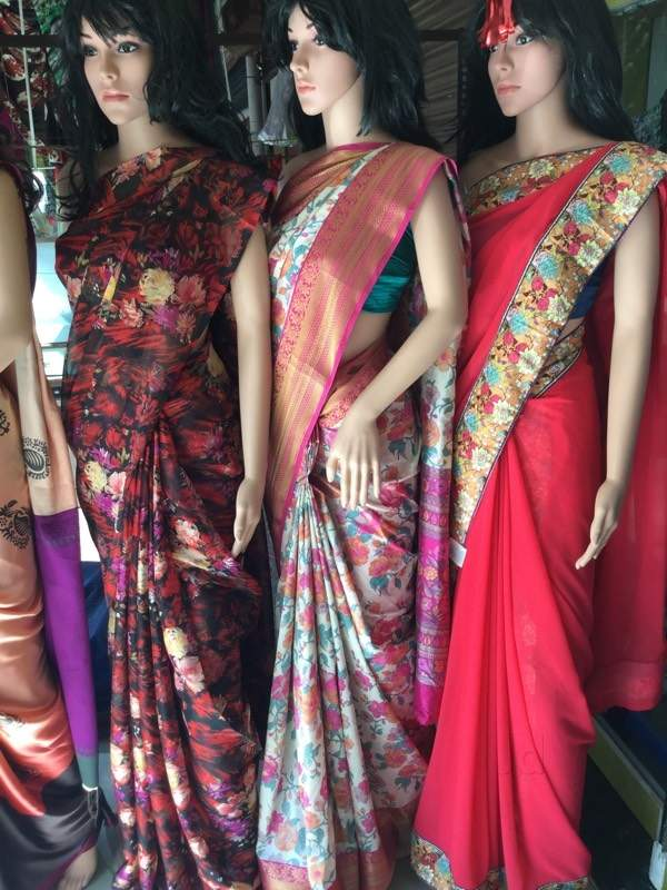 Garden Vareli sarees for everyday use